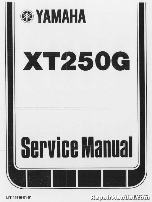 yamaha xt 250 wiring diagram mercruiser mando alternator 1980-1982 xt250 motorcycle repair service manual