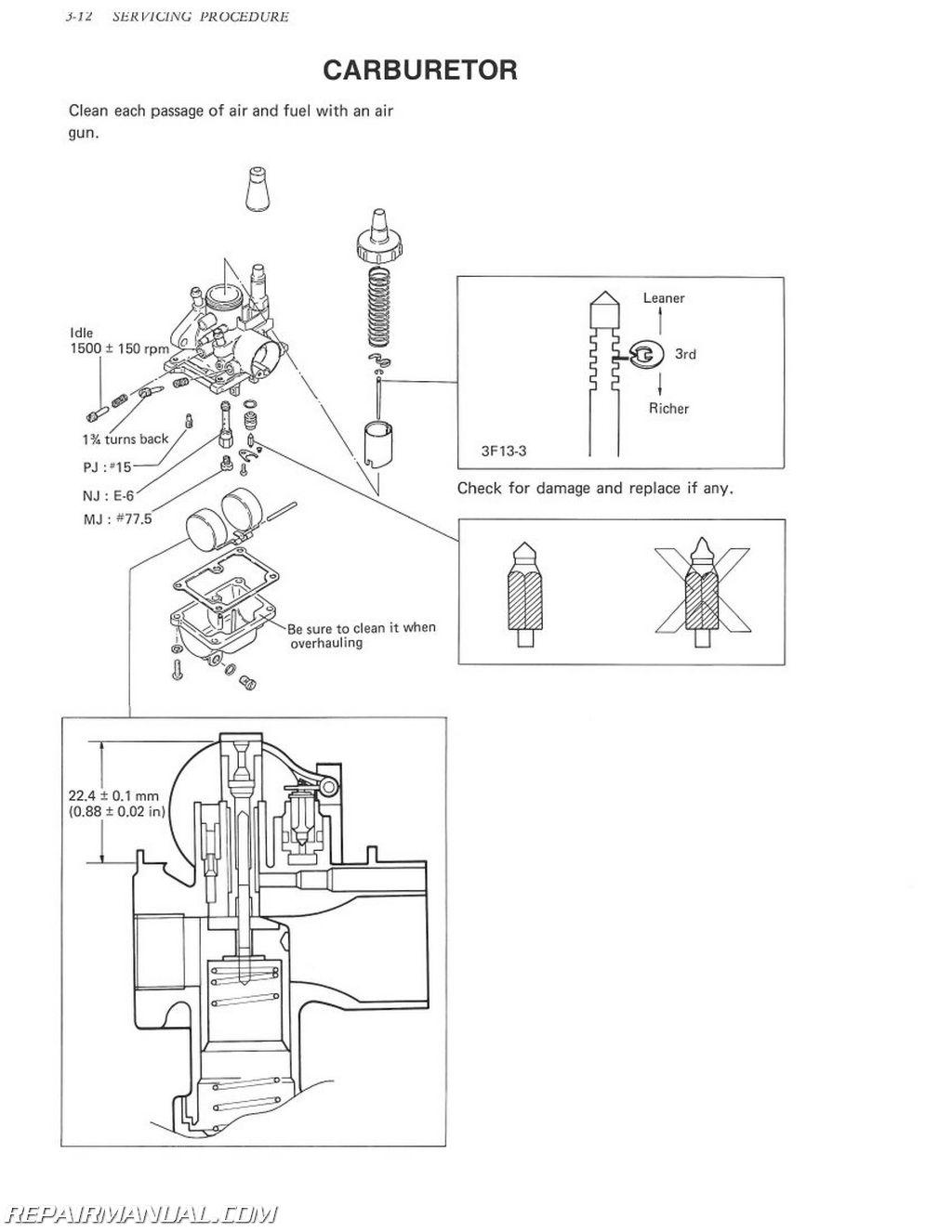 1980-1991 Suzuki FA50 Moped Service Manual