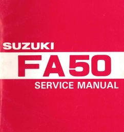 1980 1991 suzuki fa50 moped service manual jpg [ 1024 x 1342 Pixel ]