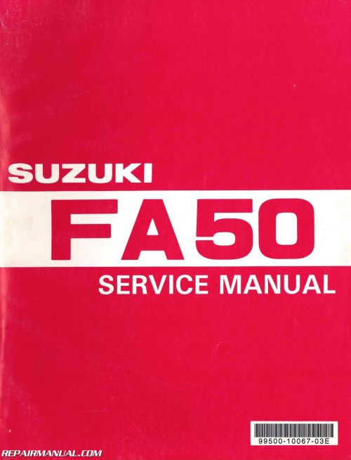 small resolution of 1980 1991 suzuki fa50 moped service manual jpg