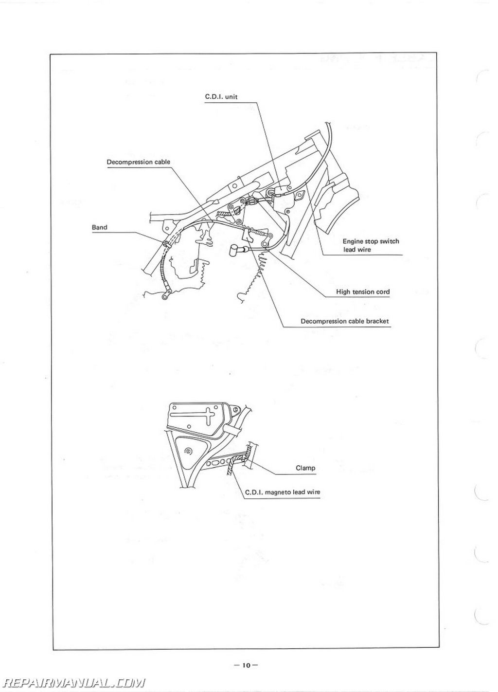 1980 Yamaha TT250G Assembly Manual