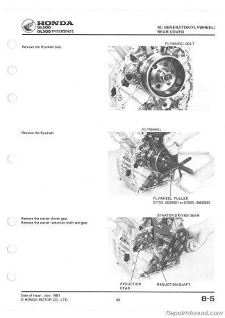 1981-1983 Honda Silverwing GL500 GL650 Motorcycle Service