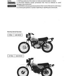 1977 1983 yamaha dt80 gt80 gtmxe dt100 motorcycle service manual [ 1024 x 1325 Pixel ]