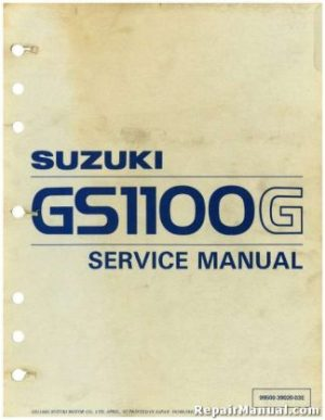 1982  1985 Suzuki DR250 SP250 Motorcycle Service Manual