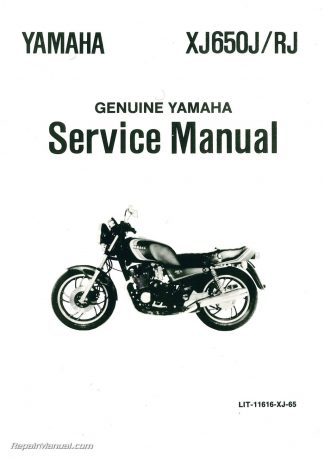 1982 Yamaha XJ650R Seca Motorcycle Service Manual