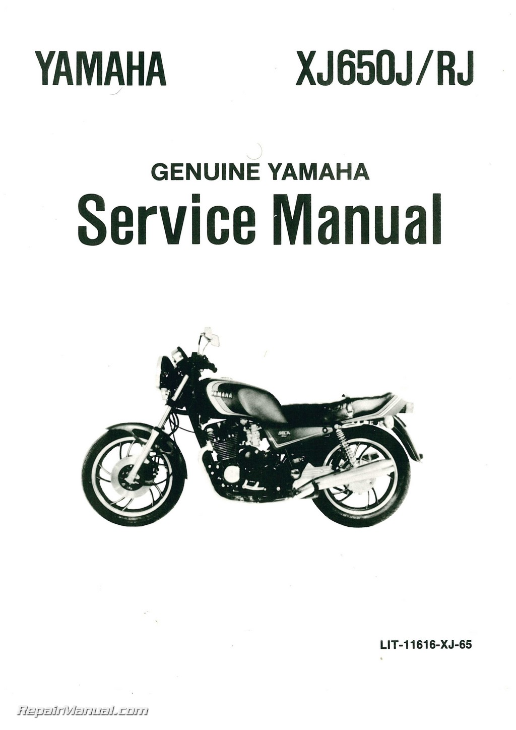 Yamaha Xj650r Seca Motorcycle Service Manual