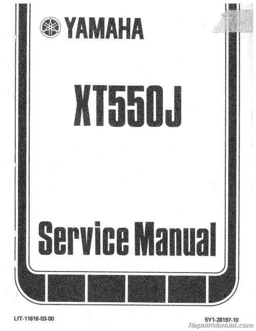 small resolution of 1982 yamaha xt550 motorcycle service repair maintenance manual 1984 yamaha xt 600 yamaha xt 550 wiring diagram