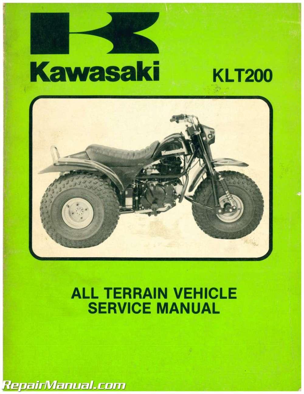 medium resolution of 1983 kawasaki klt200 atc three wheeler service manual