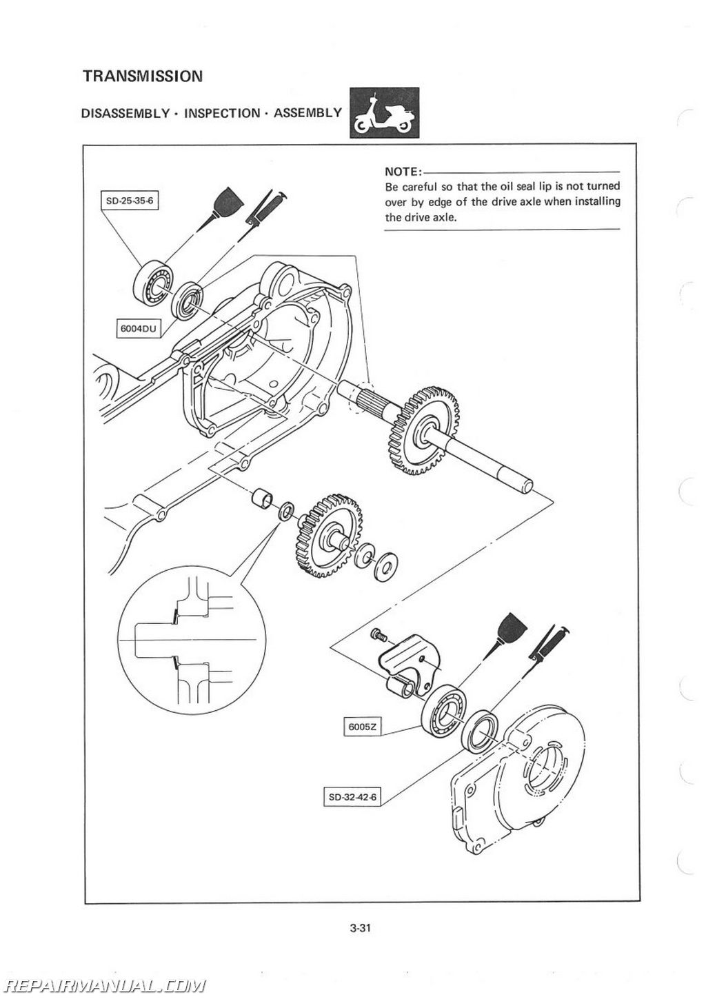 1983 Yamaha CV80K Riva Scooter Service Manual