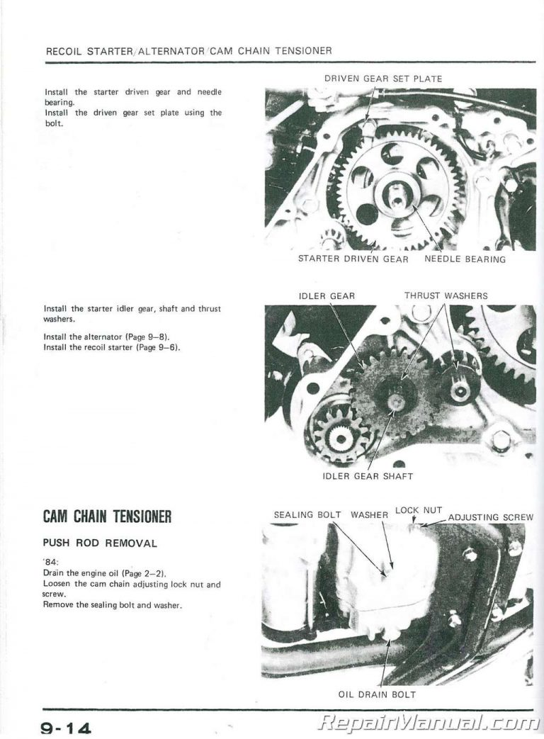 1984-1985 Honda ATC125M ATC/ATV Three Wheeler Service Manual