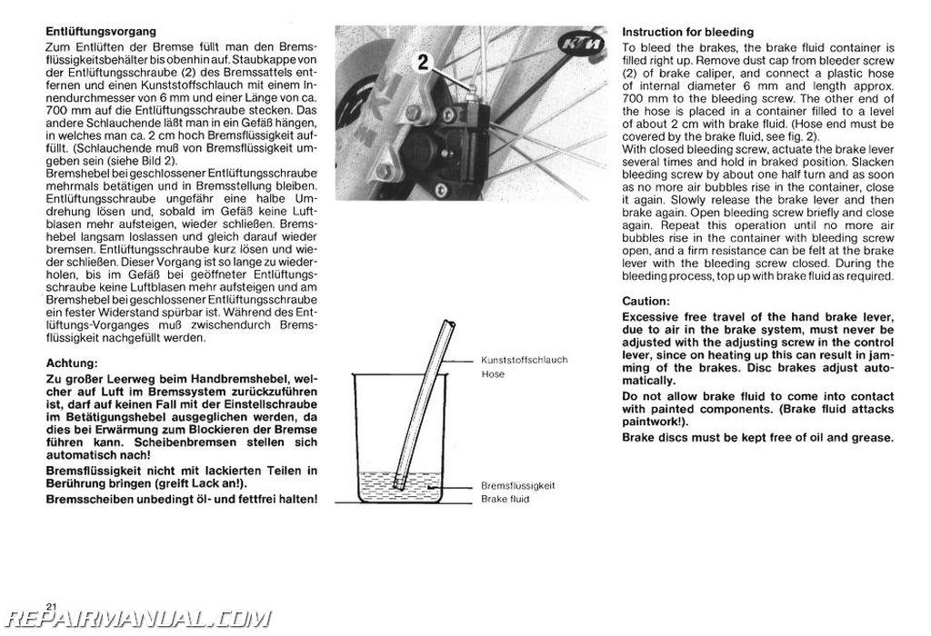 1984-1986 KTM 350 500 600 Repair Manual