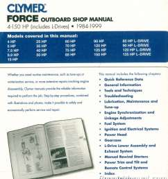 1984 1999 force 4 150 hp outboard boat engine repair manual marine force 125 weight 125 [ 1024 x 1147 Pixel ]