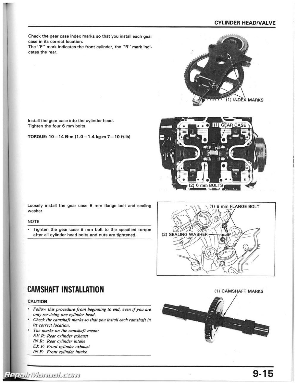 medium resolution of 1985 1986 honda vf1000r motorcycle service manual cbr250 wiring diagram honda vf1000r wiring diagram