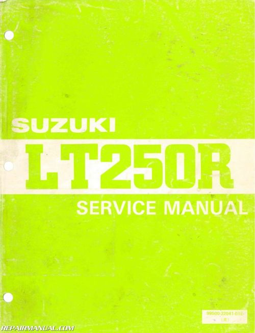 small resolution of 1985 1986 suzuki lt250r atv service manual1985 1986 suzuki lt250r atv service manual jpg