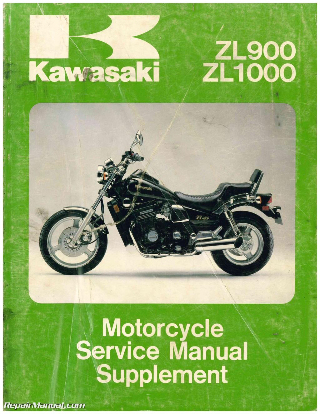 hight resolution of 1985 1988 kawasaki zl900 zl1000 eliminator motorcycle service manual supplement
