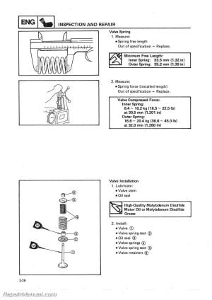 19861988 Yamaha YFM225 Moto4 ATV Printed Service Manual