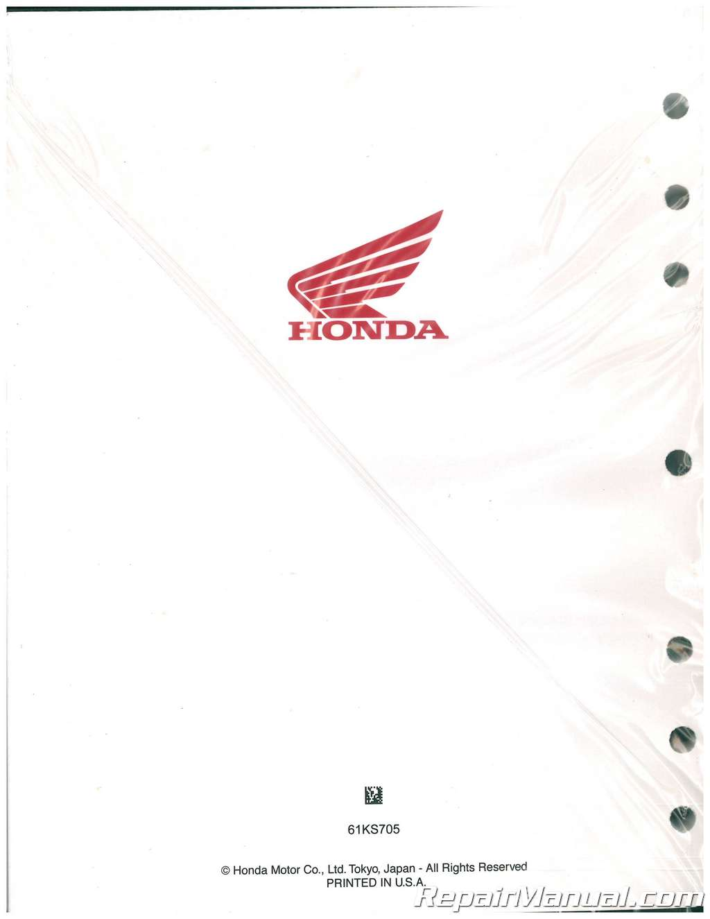 1986-1991 Honda CR250R Motorcycle Service Manual