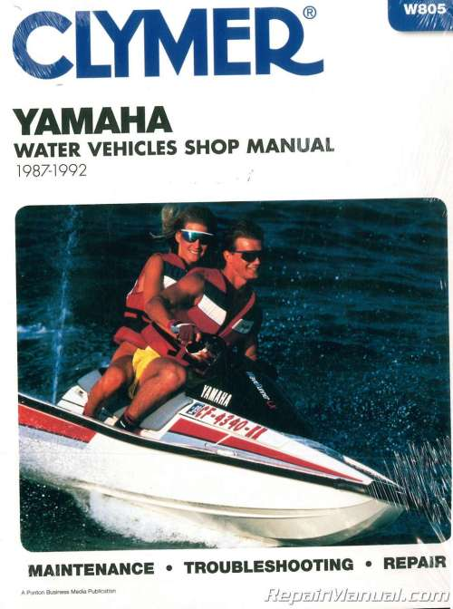 small resolution of 1987 1992 clymer yamaha waverunner wavejammer personal watercraft repair manual