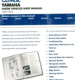 1987 1992 clymer yamaha waverunner wavejammer personal watercraft repair manual [ 1024 x 1185 Pixel ]