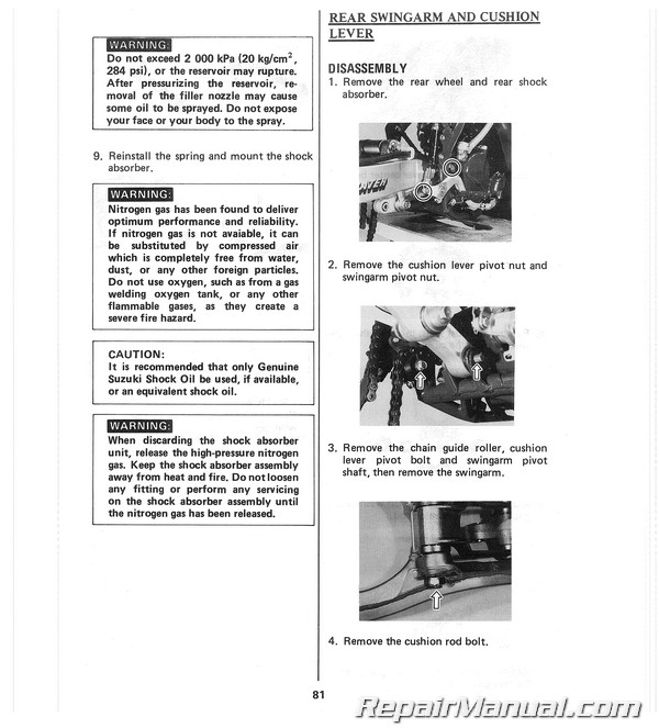 Suzuki Inazuma 250 Owners Manual