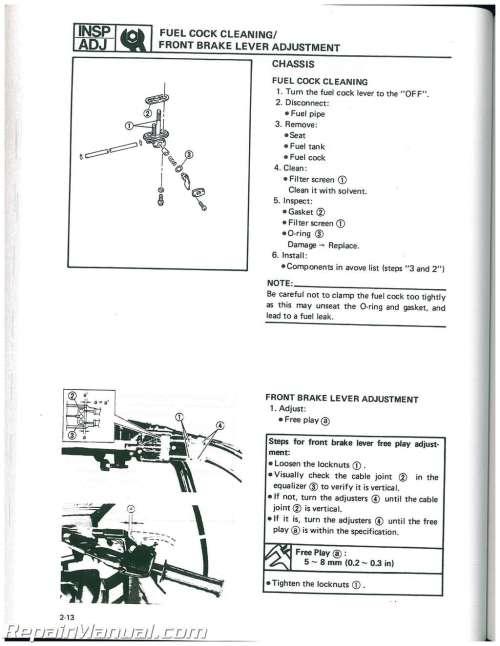 small resolution of wiring diagram 1991 yamaha moto 4 atv
