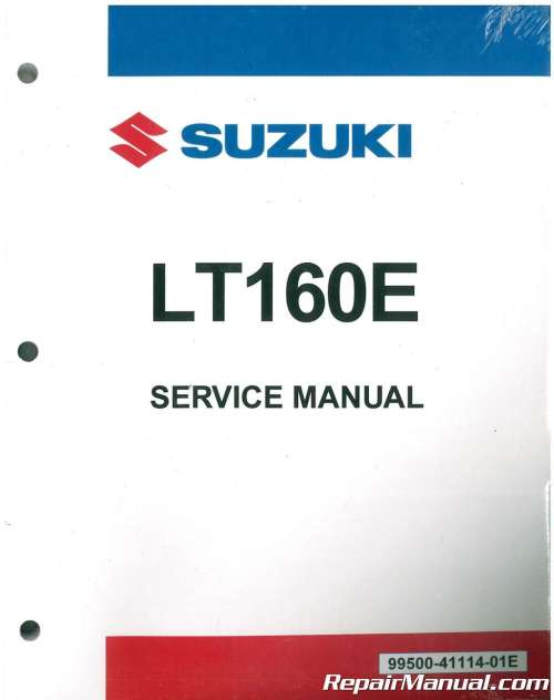 small resolution of 1989 2005 suzuki lt160 lt f160 quadrunner atv service manual rh repairmanual com 2006 eiger suzuki suzuki quadrunner lt160 wiring diagram