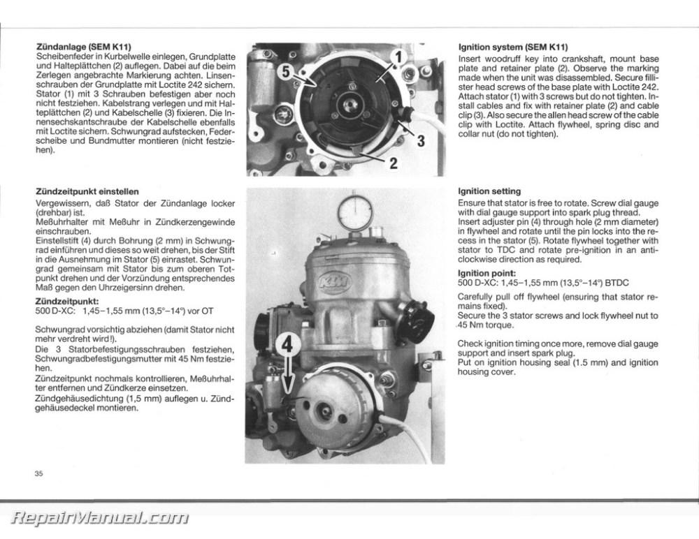 medium resolution of 1989 1990 ktm 350 500 540 motorcycle engine service manual ktm 450 xc atv ktm 350 engine diagram