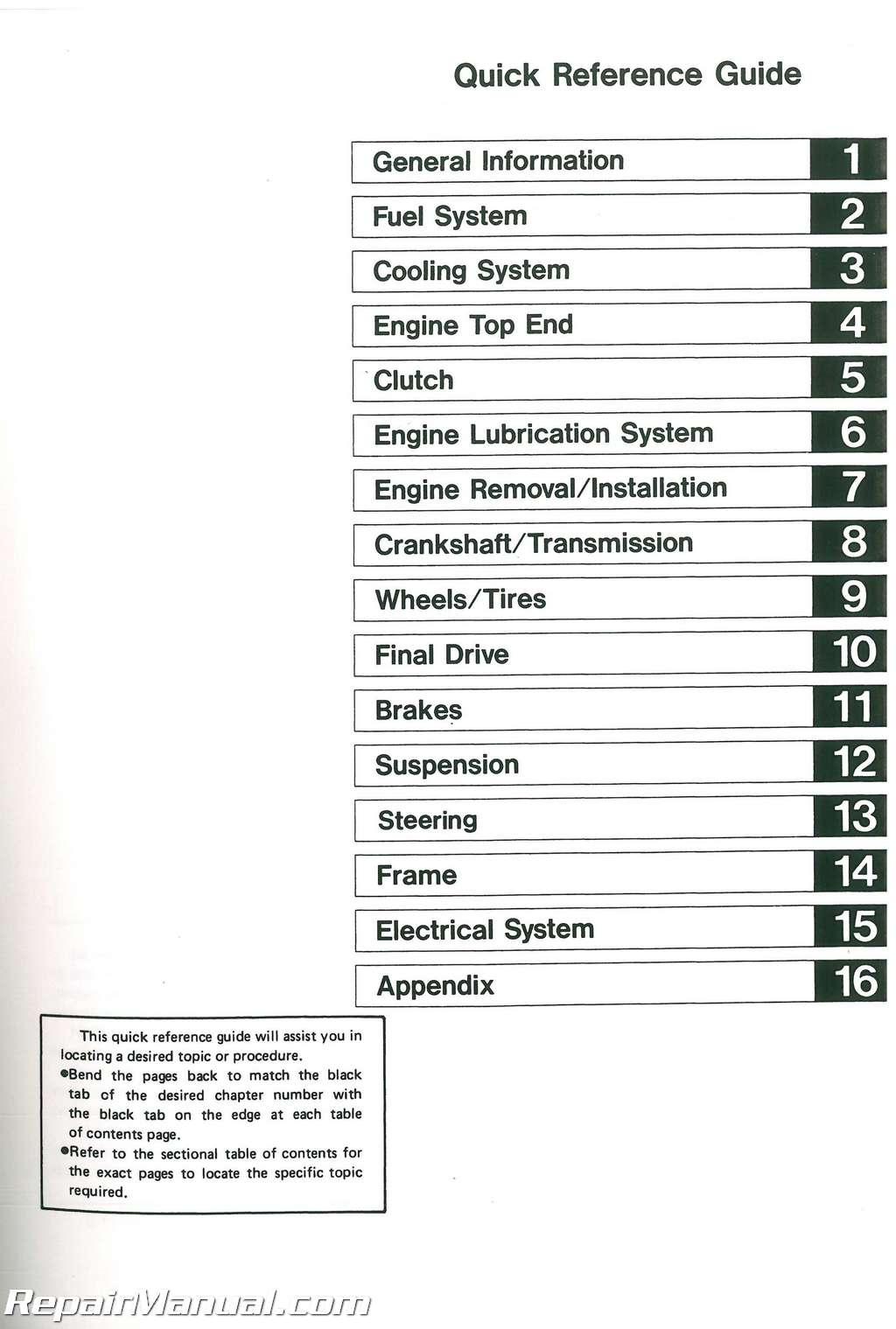 1989-1990 Kawasaki ZX750H Service Manual