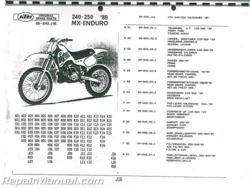 small resolution of 1989 ktm 240 250 mx enduro motorcycle parts manual ktm 65 sx parts diagram ktm parts diagram