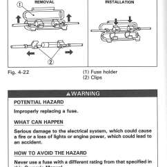 Honda Motorcycle Wiring Diagram Xl100 Plete Electron Dot For Co 1991 Trx200d Fourtrax 200 Type Ii Atv Owners Manual