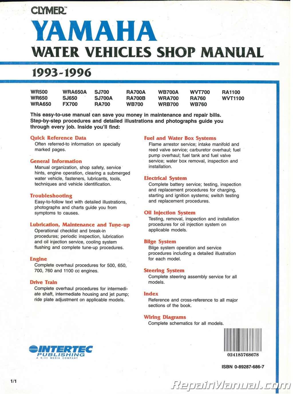 hight resolution of  array 1996 yamaha waveraider 1100 service manual rh 1996 yamaha waveraider 1100 service manual fu