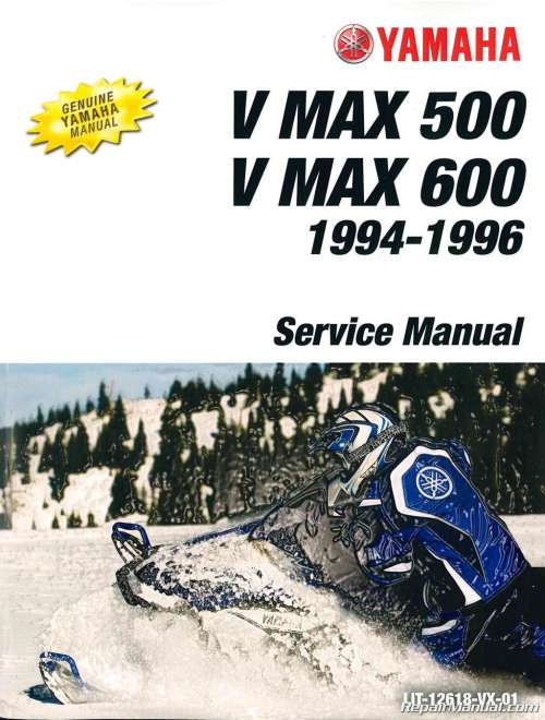 small resolution of 1994 1996 yamaha v max 500 vx500 and v max 600 vx 600 snowmobile service manual jpg