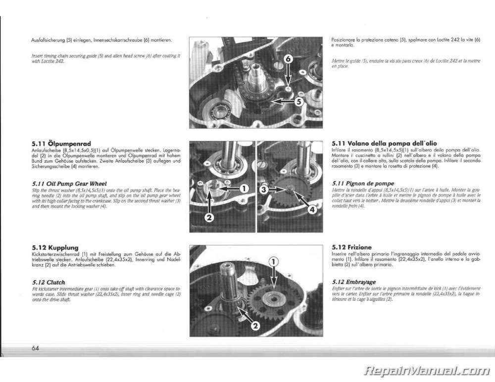 medium resolution of 1995 ktm 400 620 lc4 duke engine service manual