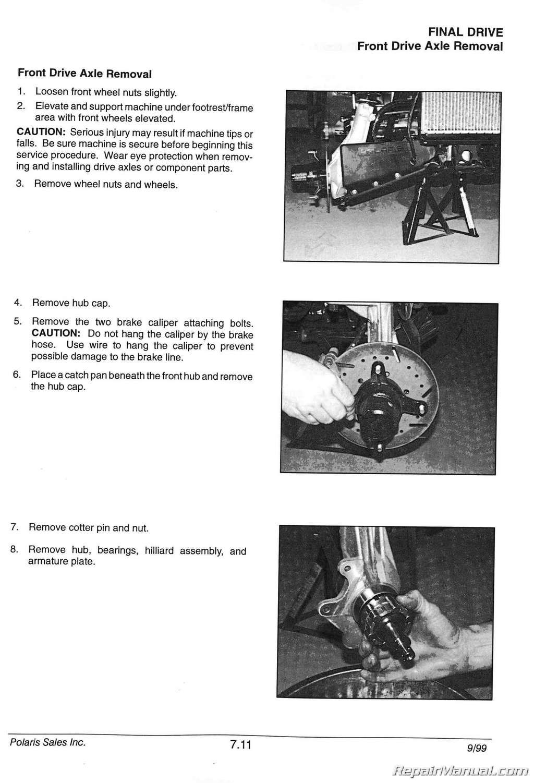 1996 Polaris Sportsman 500 Wiring Diagram 1996 2000 Polaris Sportsman 335 500 Atv Service Manual