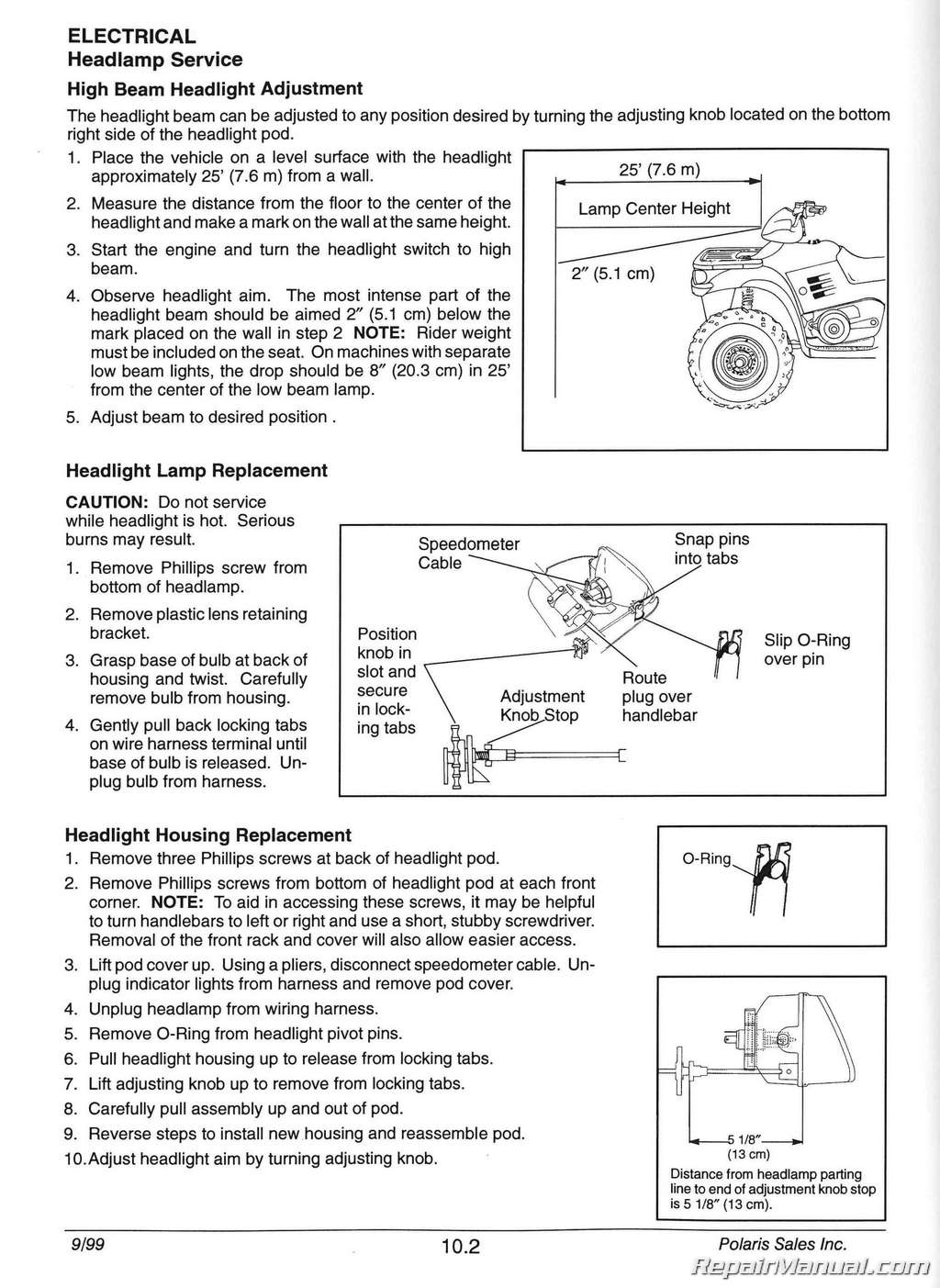 hight resolution of 1996 2000 polaris sportsman 335 500 atv service manualpolaris wiring diagram 17