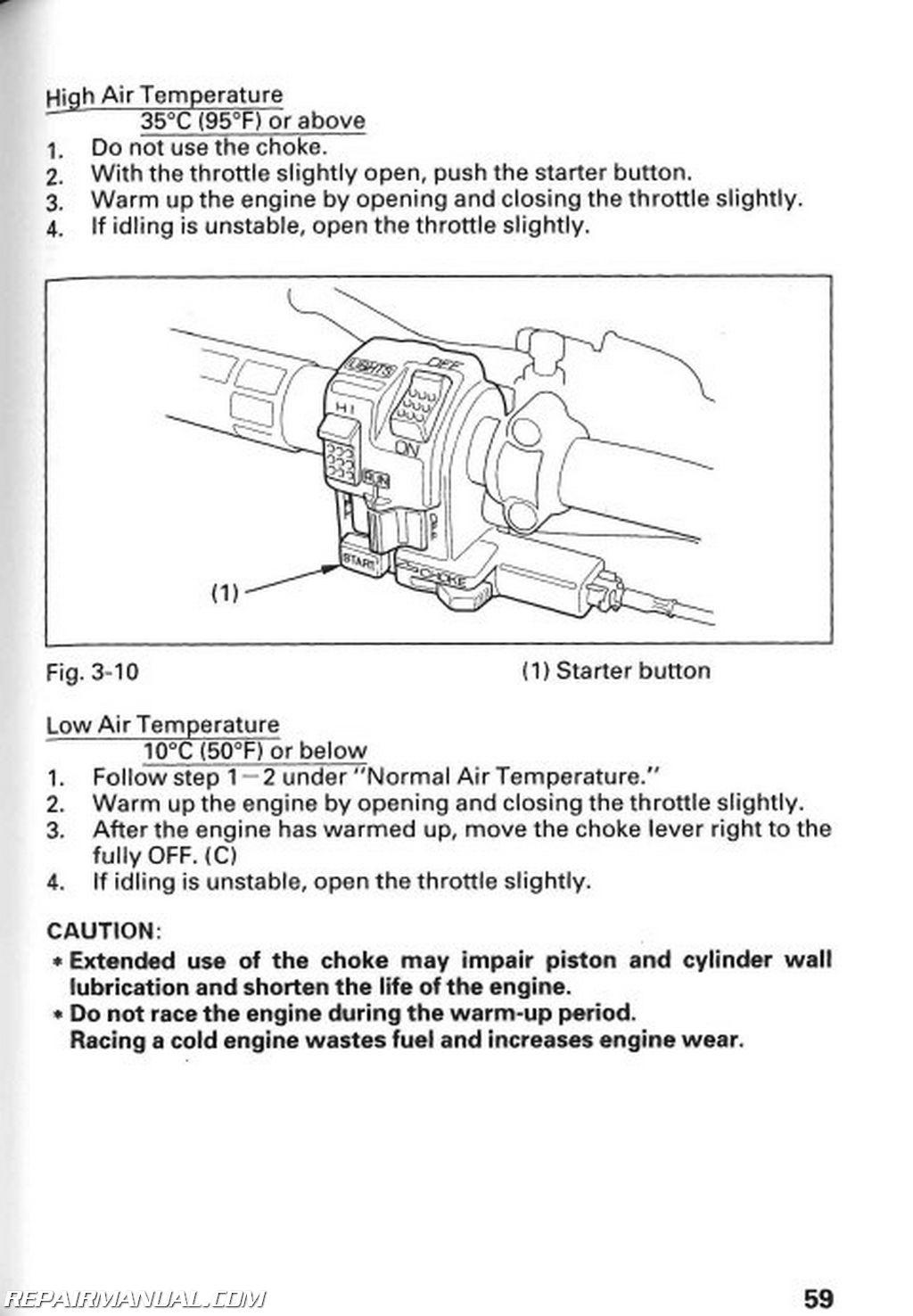 honda motorcycle wiring diagram xl100 plete dual battery ford e350 1996 trx300fw fourtrax 4 x atv owners manual