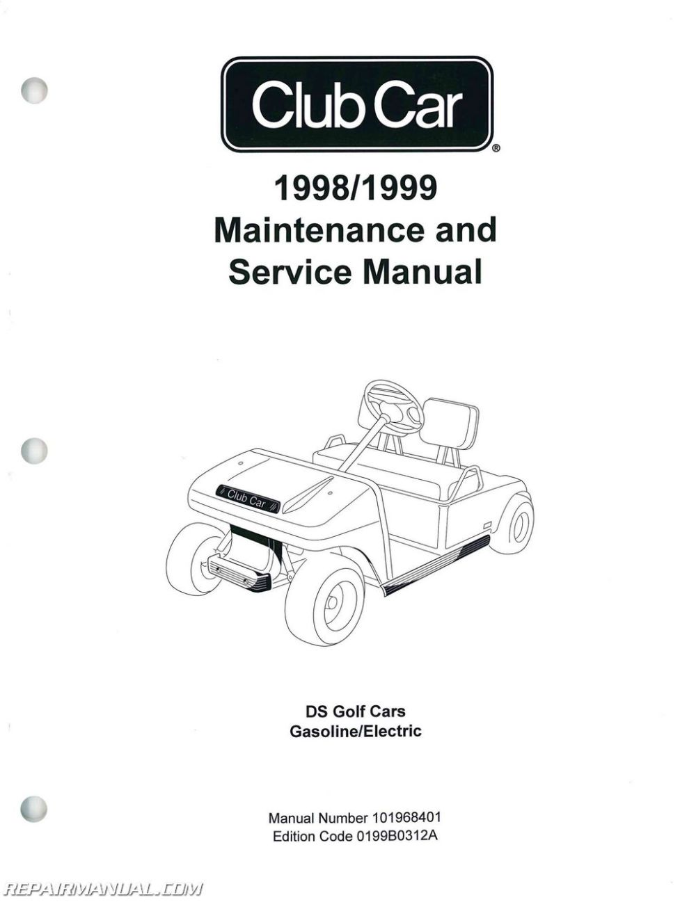 medium resolution of 1998 1999 club car ds golf car service manual club car throttle cable diagram club car steering column diagram