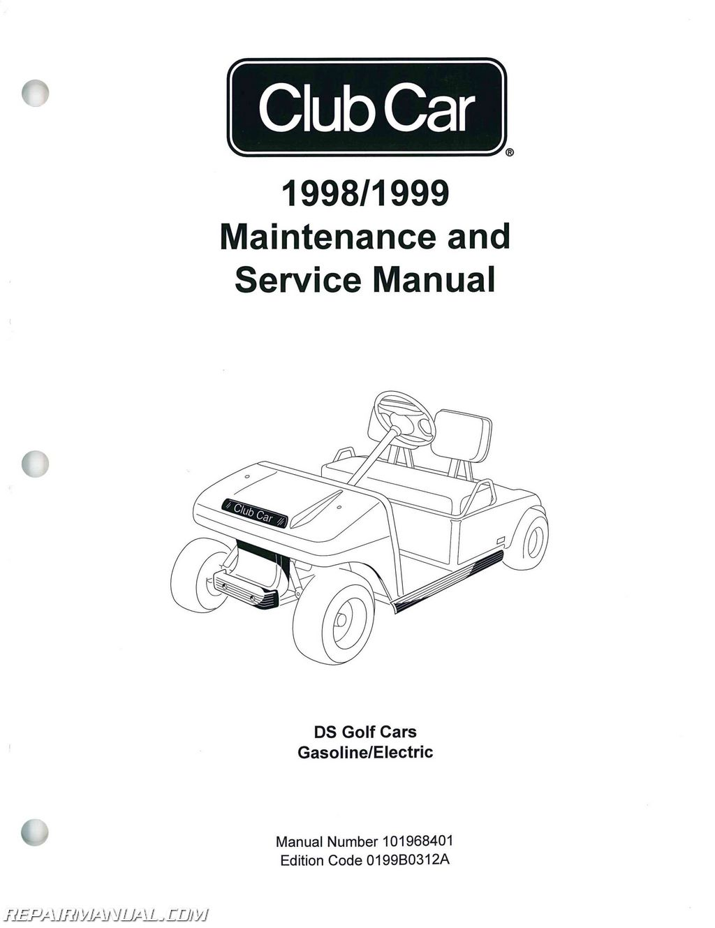 hight resolution of 1998 1999 club car ds golf car service manual rh repairmanual com 1998 club car manual 1998 club car manual
