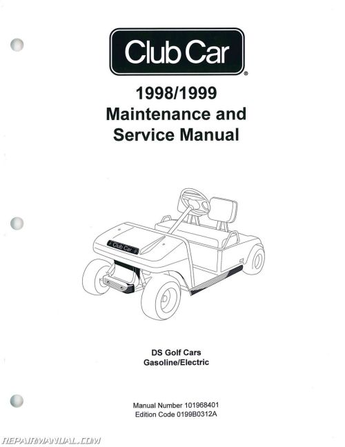small resolution of 1998 1999 club car ds golf car service manual rh repairmanual com 1998 club car manual 1998 club car manual