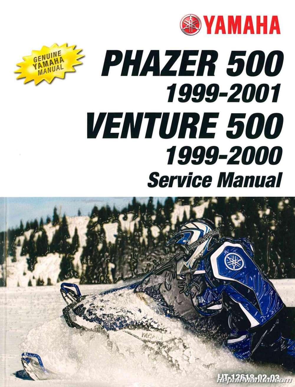 medium resolution of 1999 2001 yamaha snowmobile service manual pz500 phazer vt500xl venture 500 xl jpg