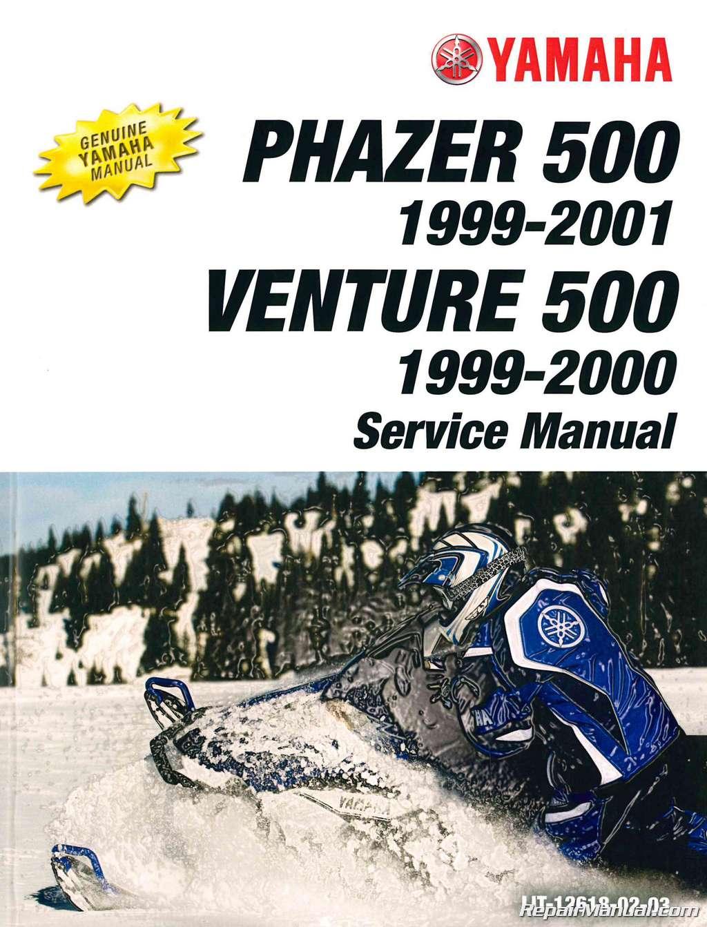 hight resolution of 1999 2001 yamaha snowmobile service manual pz500 phazer vt500xl venture 500 xl jpg