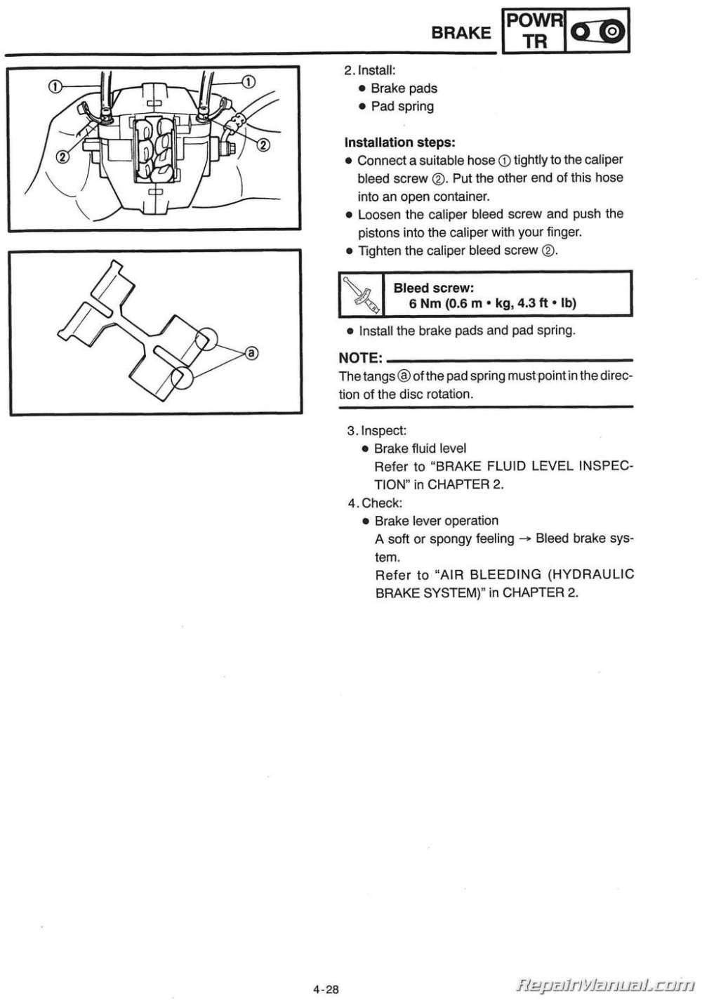 medium resolution of 1999 2001 yamaha snowmobile service manual pz500 phazer vt500xl venture 500 xl