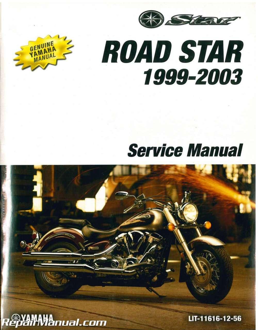 medium resolution of 1999 2003 yamaha road star xv1600 motorcycle service manual rh repairmanual com yamaha road star turn signal wiring diagram yamaha road star turn signal