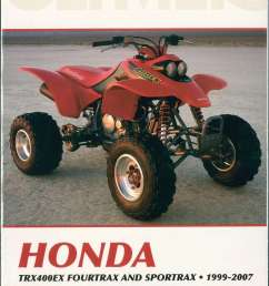 1999 2007 honda trx400ex fourtrax sportrax atv repair manual  [ 2105 x 3025 Pixel ]