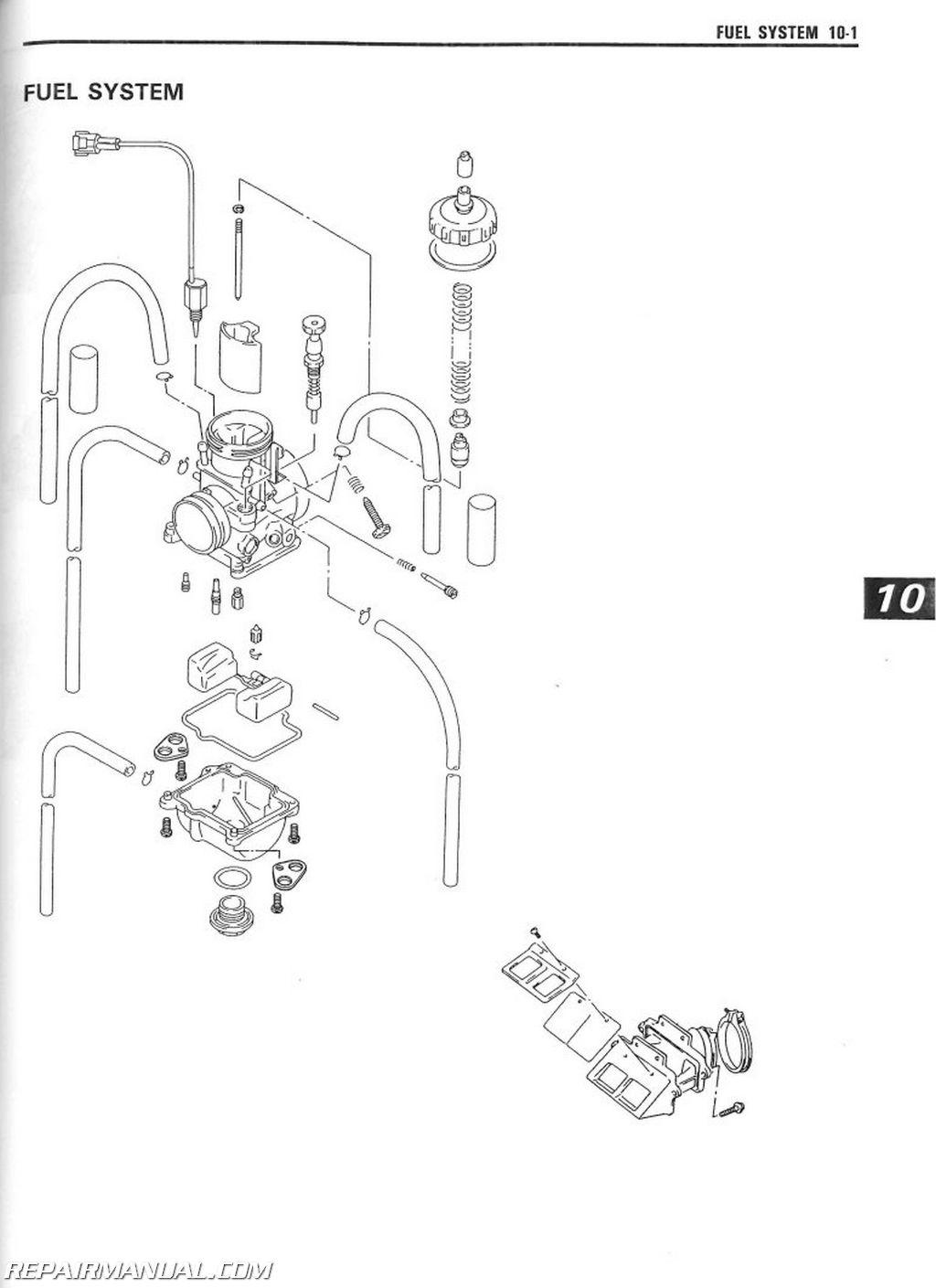 1999 Suzuki RM250W Service Manual