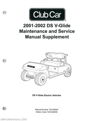 2001-2002 Club Car DS V-Glide Golf Car Maintenance And