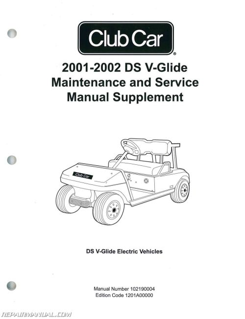 small resolution of 2001 2002 club car ds v glide golf car maintenance and service diagram 2002 club car schematic