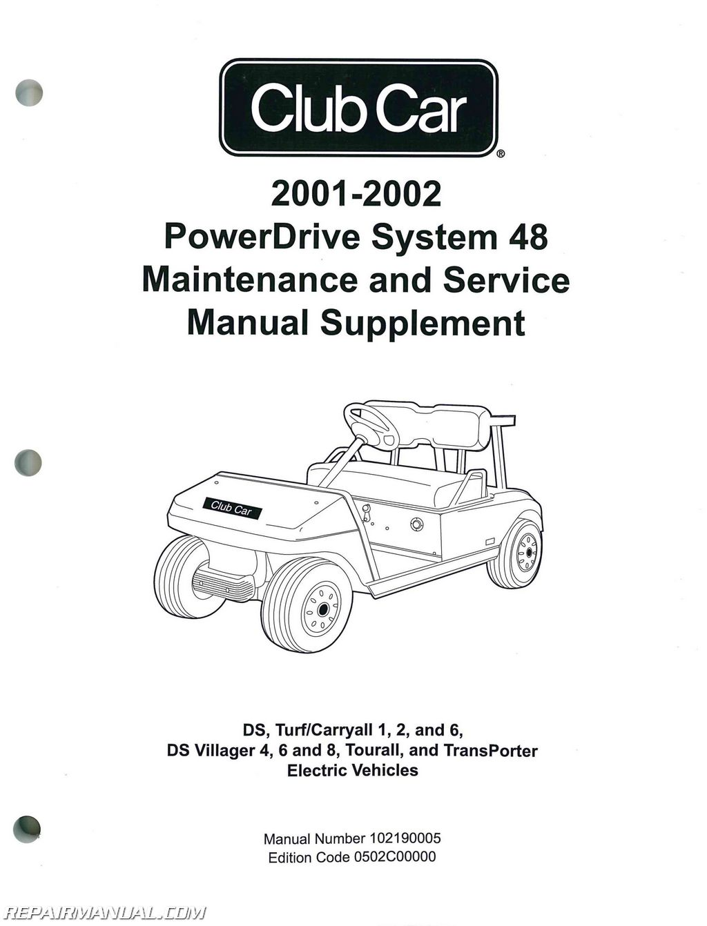 hight resolution of 2001 2002 club car powerdrive system 48 maintenance and service manual supplement jpg