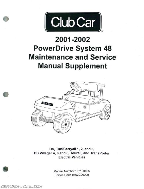 small resolution of 2001 2002 club car powerdrive system 48 maintenance and service manual supplement jpg