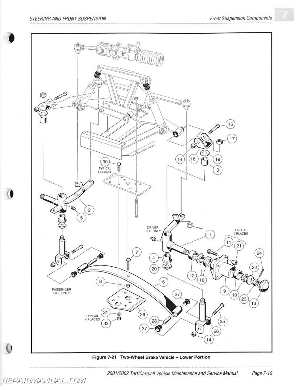 Club Car Turf 2 Parts Diagram Layout Wiring Diagrams Carryall 1 6 Cushman Manual